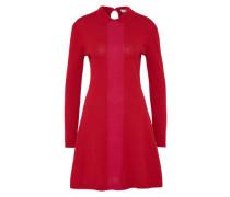 Feinstrick Kleid rot