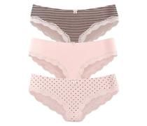 Spitzenslip grau / pink