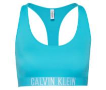 Bikinitop mit Label-Bund türkis
