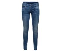 Skinny Jeans mit Used Waschung 'Lynn' blue denim