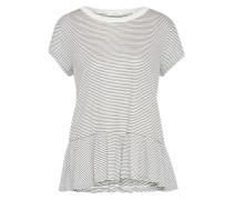 T-Shirt 'Serva' dunkelgrau / offwhite