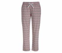 7/8-Pyjamahose 'Lou' grau / koralle
