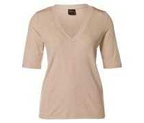 V-Ausschnitt-T-Shirt pink