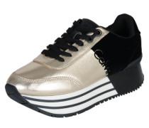 Carlita 'Sneaker' gold / schwarz / weiß