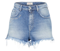 Mid Waist Jeans Short blue denim