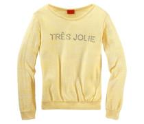 """CFL Pullover mit Glitzersteinchen""""Tres Jolie"""" für Mädchen gelb"""
