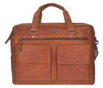 Bronco Aktentasche Leder 42 cm Laptopfach braun