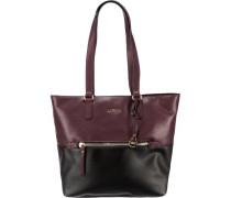 'Nina' Handtasche rotviolett / schwarz