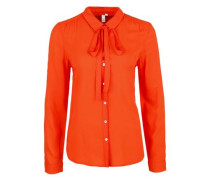 Luftige Schluppenbluse orange
