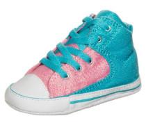 'Chuck Taylor First Star High Street High' Sneaker neonblau / altrosa / weiß