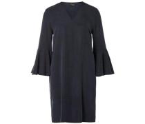Kleid mit Glockenärmeln kobaltblau