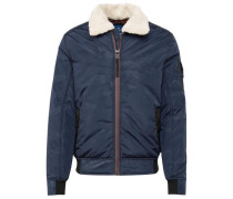 Jacket Blouson-Jacke mit Camouflage-Muster blau / navy / weiß