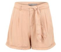 Shorts 'Lesley' mit Gürtel altrosa