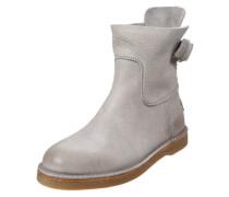 Damenlederstiefel 'Ankle Boot' hellgrau
