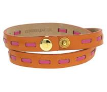 Wickelarmband Ubb21309 gold / dunkelorange / pink