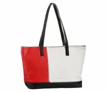 Shopper rot / schwarz / weiß