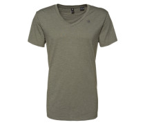 T-Shirt 'Base V T' im 2er Pack grün