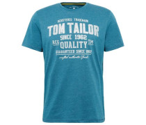 T-Shirt mit Schrift-Print himmelblau