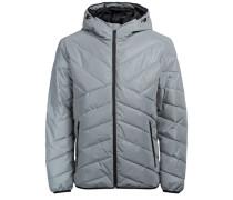 Wattierte Metallic Jacke grau