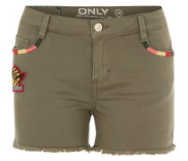 Jeansshorts 'Onlhappy' oliv