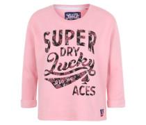 Sweatshirt mit Frontprint pink