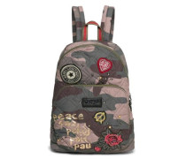 Cityrucksack 'lima Military Parches' oliv