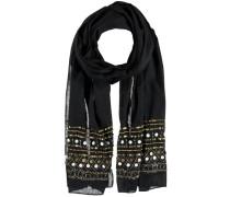 Baumwoll Schal schwarz