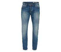 Jeans 'straight Midblue' blau