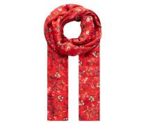 Schal mit Streublumen-Print rot