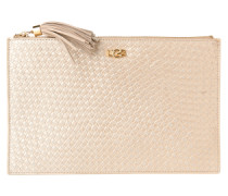 Clutch 'Rae Basket Weave Pouch' gold