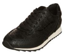 Sneaker mit Strukturmuster schwarz