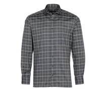Langarm Hemd Modern FIT schwarz / weiß