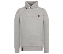 Male Sweatshirt braun / graumeliert