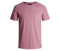 Gewaschenes T-Shirt pinkmeliert