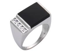 Ring schwarz / silber