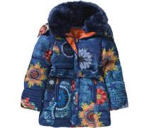 Wintermantel für Mädchen blau / orange