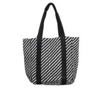 Shopper Bag aus Wolle schwarz / weiß