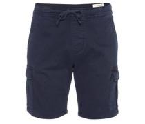 'Cargo Slim Jogger' Bermuda dunkelblau
