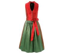 Dirndl midi in schöner Farbkombination grün / rot