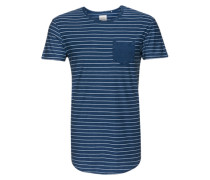 Strefen T-Shirt blau