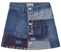 Rock 'D Denim Patch Skirt Pwfl' blue denim