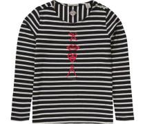 Langarmshirt für Mädchen beigemeliert / schwarz