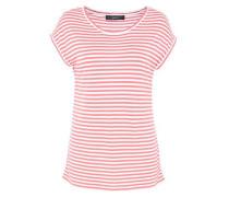 Ringelshirt mit überschnittener Schulter pink / weiß