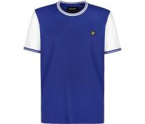T-Shirt ' Tipped ' weiß / blau