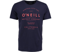 T-Shirt 'type' blau