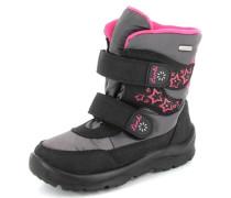 Stiefel Synthetik grau / pink / schwarz