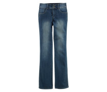 Bootcutjeans »Push-Up Jeans mit komfortabler Leibhöhe« blau