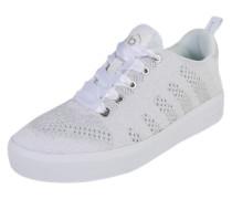 Sneaker mit Glitzereffekt weiß