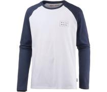 'die CUT TEE LS' Langarmshirt navy / weiß