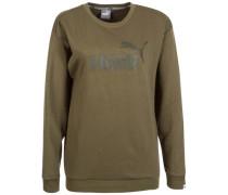 'Essential No.1 Crew' Sweatshirt Damen oliv